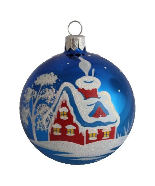Blizzard Glass Christmas Ball - Glass Christmas Ornaments and Tree Decorations