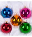 Carol set of christmas ornaments, glass christmas ornaments