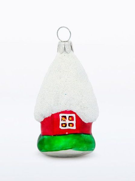 House glass Christmas Figurine