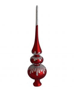 Christmas Tree Toppers Red - Grace, Glass Christmas Tree Toppers