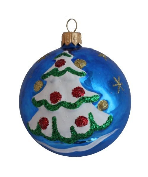 New Year Glass Christmas Ball - Glass Christmas Ornaments and Tree Decorations