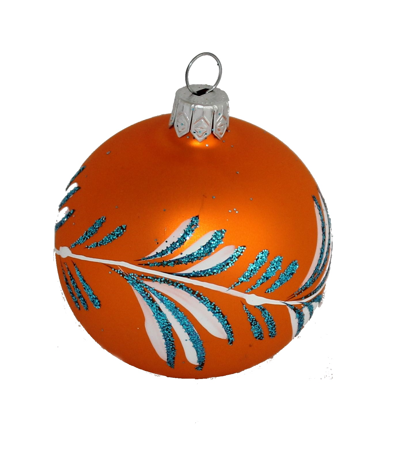Christmas Decorations With Orange: Glass Christmas Ball, Orange- Christmas Ornament