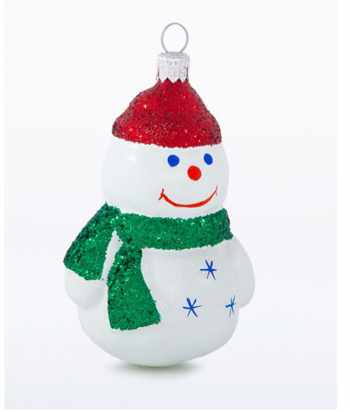 glass christmas figurine snowman