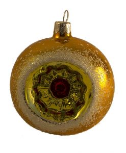 Glass Christmas Ornaments - Vintage Christmas Ball Ornament, Red