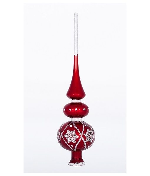 Buy Christmas tree toppers online Canada - Snowy Red Christmas tree topper