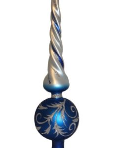 Vintage Christmas Tree Toppers - Twisted Blue Christmas Tree Topper